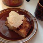 アップルパイとバニラアイス。